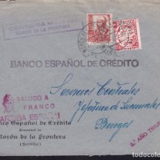 Sellos: CM3-16-GUERRA CIVIL. CARTA MORÓN DE LA FRONTERA (SEVILLA)-BURGOS 1937. LOCAL Y CENSURA. Lote 120440183