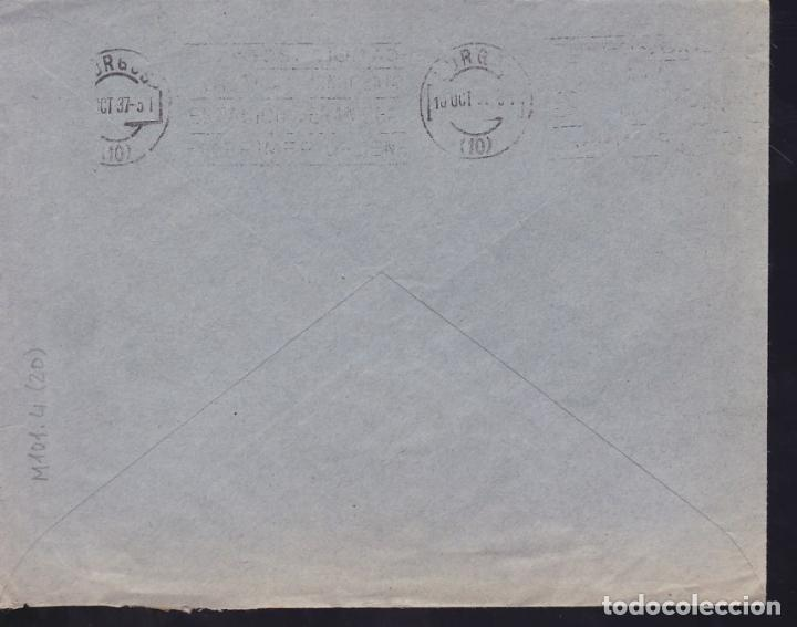 Sellos: CM3-16-Guerra Civil. Carta MORÓN DE LA FRONTERA (Sevilla)-BURGOS 1937. Local y CENSURA - Foto 2 - 120440183
