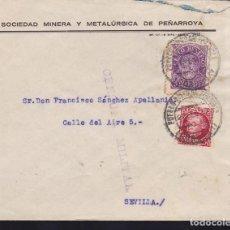 Sellos: CM3-28-GUERRA CIVIL. CARTA PUEBLONUEVO DEL TERRIBLE CÓRDOBA 1937. LOCAL Y CENSURA . Lote 120450219