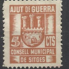 Sellos: AJUT DE GUERRA CONSELL MUNICIPAL SITGES 5 CTS NUEVO(*). Lote 120452311