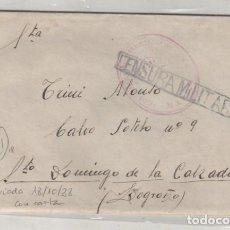 Sellos: SOBRE CON CARTA ENVIADA 18/10/1938 CENSURA MILITAR FRANQUICIA ??. Lote 120515003