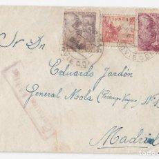 Sellos: SOBRE DE LA CARIDAD. EL FRANCO. ASTURIAS. 1940. CON RARA CENSURA MILITAR.. Lote 120562895