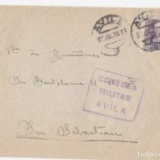 Sellos: SOBRE CON CENSURA MILITAR DE ÁVILA. 1939. . Lote 120596439