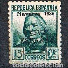 Sellos: SELLO REPUBLICANO CON SOBRECARGA NAVARRA 1936 VIVA ESPAÑA, NUEVO CON SEÑAL DE CHARNELA. Lote 120754531