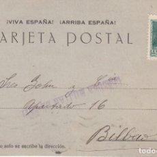 Sellos: CARTA: 1938 ESTELLA - BILBAO. Lote 120918755
