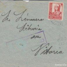 Sellos: TARJETA: SR. LINAURA LIBRERIA EN VITORIA. Lote 121022603