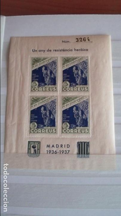 8 VIÑETAS PI DE LLOBREGAT - UN ANY DE RESISTENCIA HEROICA - (Sellos - España - Guerra Civil - De 1.936 a 1.939 - Nuevos)