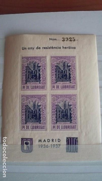 Sellos: 8 Viñetas Pi de Llobregat - Un any de resistencia heroica - - Foto 3 - 121042991