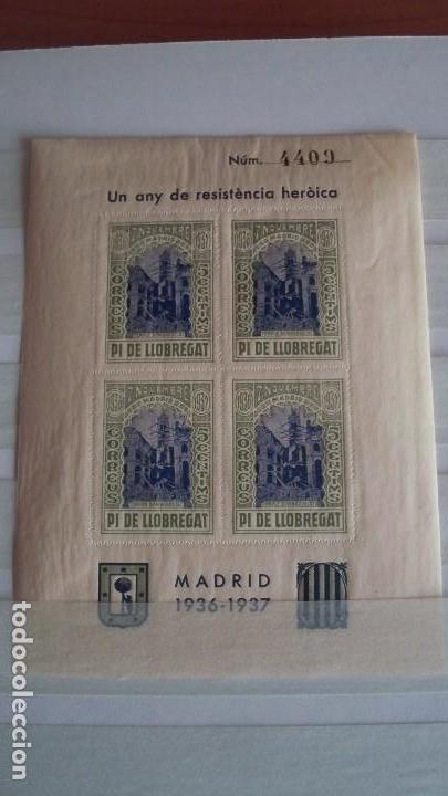 Sellos: 8 Viñetas Pi de Llobregat - Un any de resistencia heroica - - Foto 4 - 121042991