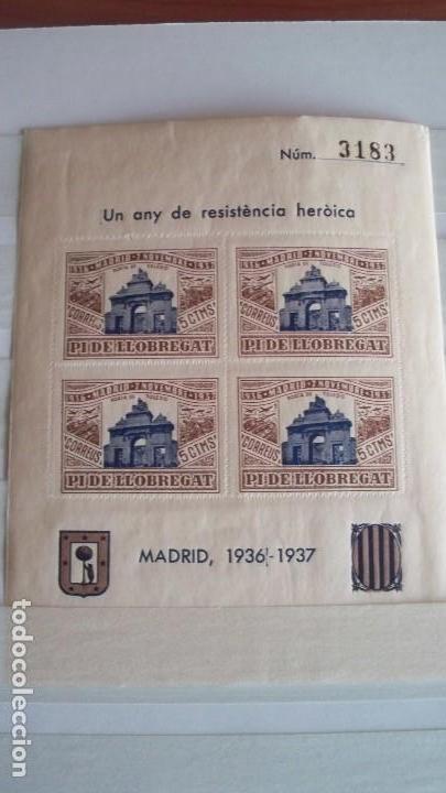 Sellos: 8 Viñetas Pi de Llobregat - Un any de resistencia heroica - - Foto 5 - 121042991