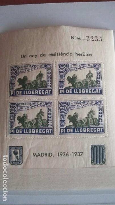 Sellos: 8 Viñetas Pi de Llobregat - Un any de resistencia heroica - - Foto 6 - 121042991