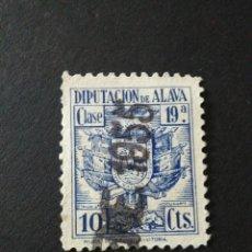 Sellos: VIÑETA DE LA DIPUTACIÓN DE ÁLAVA. 10 CTS.. Lote 121061907