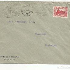 Sellos: CIRCULADA 1937 DE BURGOS CON SELLO LOCAL AL DORSO A MONDRAGON GUIPUZCOA VER FOTO. Lote 121063543