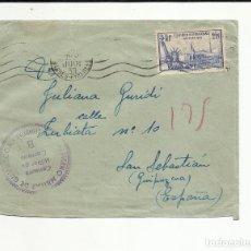 Sellos: CIRCULADA 1939 DE FRANCIA A SAN SEBASTIAN GUIPUZCOA CENSURA MILITAR. Lote 121104775