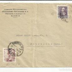 Sellos: CIRCULADA 1939 DE MADRID A MONDRAGON GUIPUZCOA CON CENSURA MILITAR . Lote 121123119