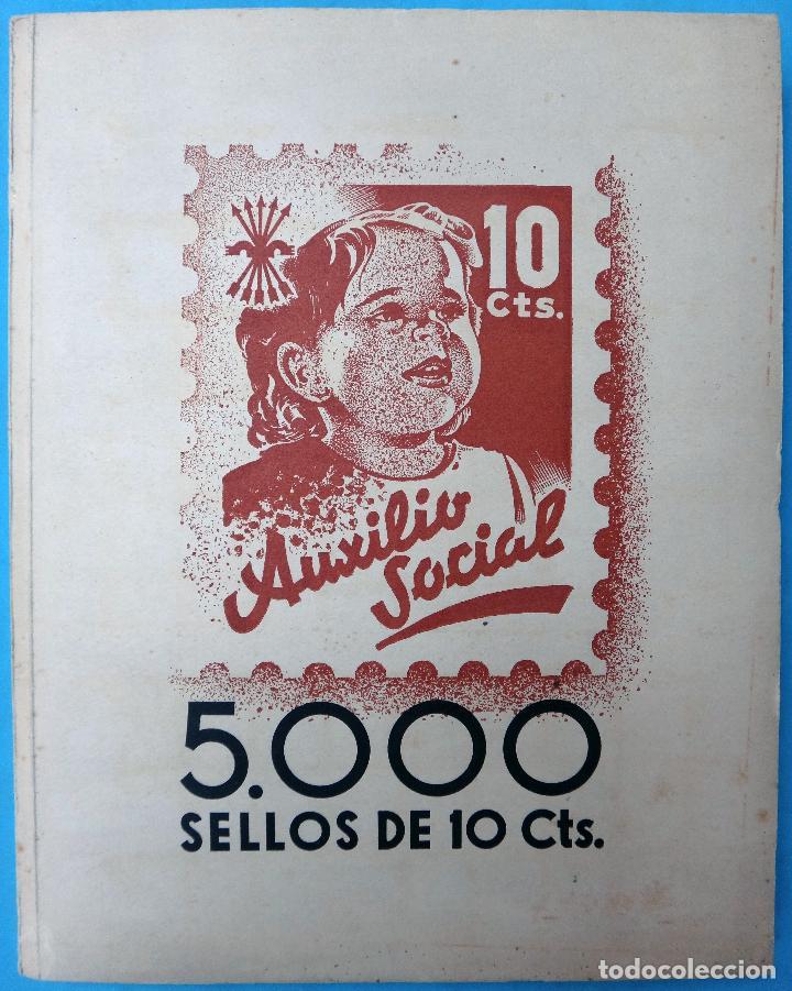 LIBRO CON 5000 VIÑETAS GUERRA CIVIL , AUXILIO SOCIAL DE 10 CTS. VER FOTOS , ORIGINAL (Sellos - España - Guerra Civil - Viñetas - Nuevos)