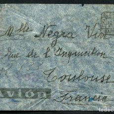 Sellos: GUERRA CIVIL, SOBRE, CIRCULADO POR CORREO AÉREO CERTIFICADO, 1938. Lote 121399435