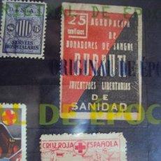Sellos: (XJ-180522)LOTE DE 879 VIÑETAS - GUERRA CIVIL Y OTROS. Lote 121584939