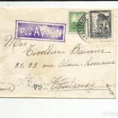 Sellos: CIRCULADA 1937 DE BARCELONA A TOULOUSE FRANCIA CON CENSURA REPUBLICANA. Lote 121606707