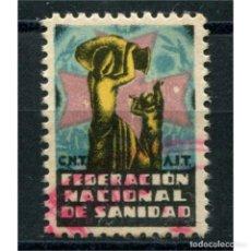 Sellos: CNT AIT, FEDERACIÓN NACIONAL DE SANIDAD, DOMÈNECH 914, USADO. Lote 121614199