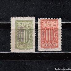 Sellos: GENERALITAT DE CATALUNYA. 2 SELLOS DE 10 Y 15 CTS.. Lote 121702231