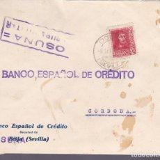 Sellos: F24-80-CARTA OSUNA SEVILLA 1938. LOCAL Y CENSURA. Lote 121937551