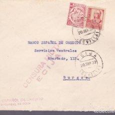 Sellos: F24-81-CARTA ÉCIJA SEVILLA 1937. LOCAL Y CENSURA. Lote 121937583