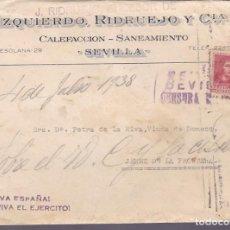 Sellos: F24-108-CARTA PUBLICIDAD RIDRUEJO CALEFACCIÓN SEVILLA 193. LOCAL Y CENSURA . Lote 121938651