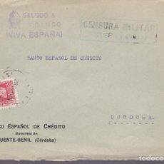 Sellos: F25-3-CARTA ESTEPA SEVILLA 1938. CENSURA Y LOCAL ANTQUERA. Lote 121938747