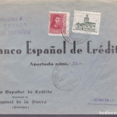 Sellos: F25-4-CARTA FREGENAL DE LA SIERRA BADAJOZ 1939. CENSURA Y LOCAL . . Lote 121938763
