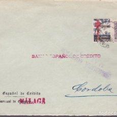 Sellos: F25-9-CARTA MÁLAGA 1938 .TUBERCULOSOS LOCAL Y CENSURA. Lote 122008827