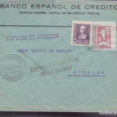 Sellos: F25-12-CARTA MONTORO CÓRDOBA 1939 .LOCAL Y CENSURA . Lote 122011551