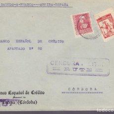 Sellos: F25-13-CARTA RUTE CÓRDOBA 1939 .LOCAL Y CENSURA . Lote 122012527