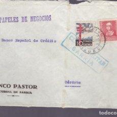 Sellos: F25-14-CARTA SARRIA LUGO 1938 .TUBERCULOSOS Y CENSURA . Lote 122013415