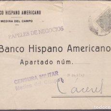 Sellos: F25-15-CARTA MEDINA DEL CAMPO VALLADOLID 1938 .FISCAL Y CENSURA . Lote 122014159