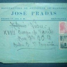 Sellos: SOBRE REPUBLICANO GUERRA CIVIL 18 CUERPO DE EJÉRCITO.BRIGADA MIXTA.MILITAR.PCE.CNT.UGT.FALANGE.NACIO. Lote 122020103