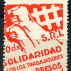 Sellos: SRI, SOLIDARIDAD CON LOS TRABAJADORES PRESOS 10C, ALLEPUZ 1070 **. Lote 122064163