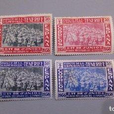 Sellos: ESPAÑA - 1938 - CANARIAS - EDIFIL 52/55 - SERIE COMPLETA - MNH** - NUEVOS - MARQUILLADOS.. Lote 122119123