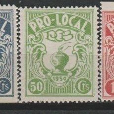 Sellos: LOTE B SELLOS VIÑETAS PRO LOCAL 1950. Lote 122208031