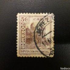 Sellos: ESPAÑA. GUERRA CIVIL. DIPUTACIÓN DE CÁDIZ. 5 CTS. Lote 122834678