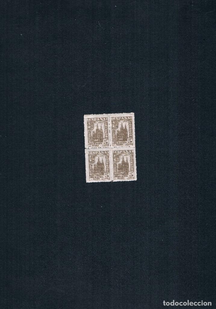 Sellos: COLECCION DE SELLOS JUNTA DE DEFENSA NACIONAL EN BLOQUE DE CUATRO 1936/37 Nº 802 AL 813 - Foto 4 - 122992043