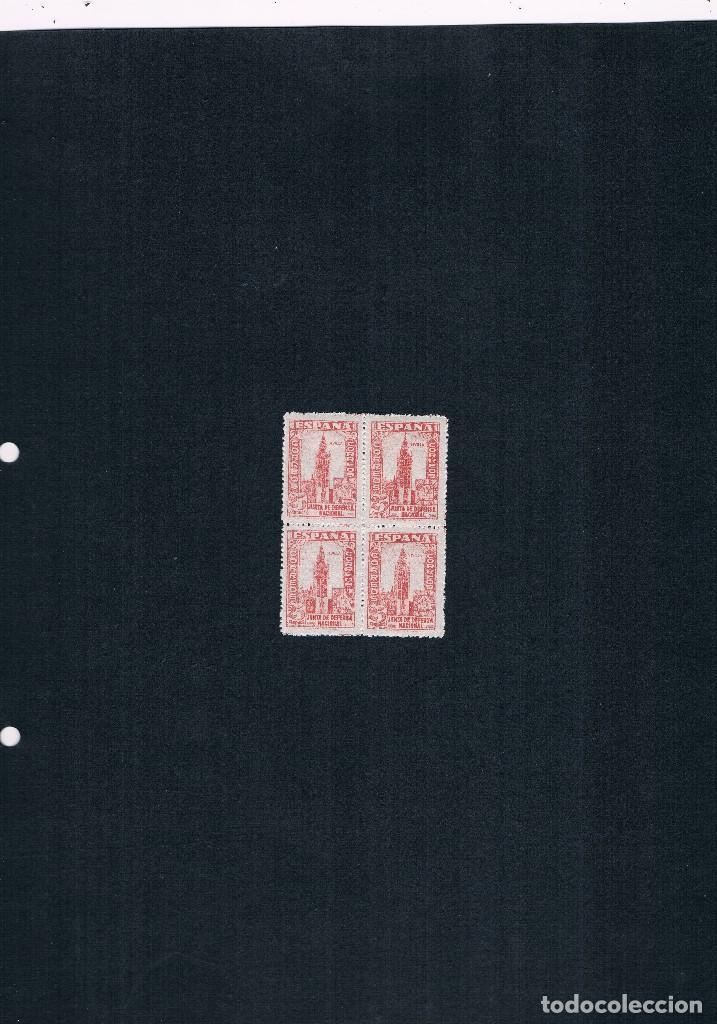 Sellos: COLECCION DE SELLOS JUNTA DE DEFENSA NACIONAL EN BLOQUE DE CUATRO 1936/37 Nº 802 AL 813 - Foto 7 - 122992043