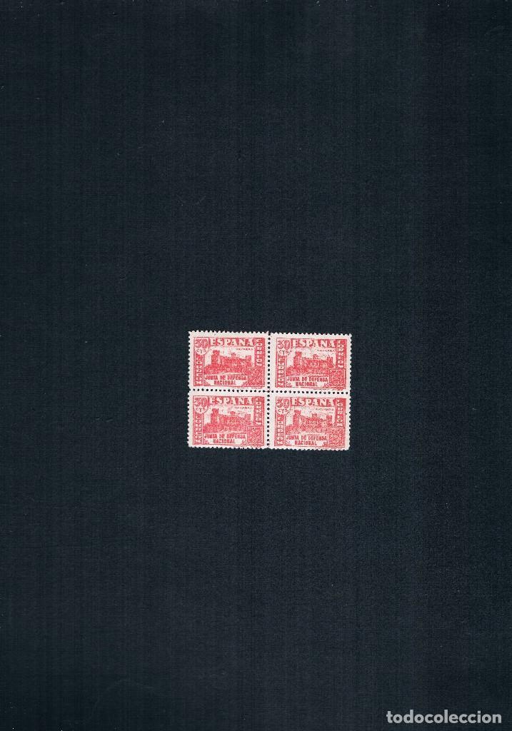 Sellos: COLECCION DE SELLOS JUNTA DE DEFENSA NACIONAL EN BLOQUE DE CUATRO 1936/37 Nº 802 AL 813 - Foto 8 - 122992043