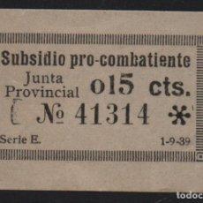 Sellos: SUBSIDIO PRO -COMBATIENTE- 15 CTS,. VER FOTO. Lote 123334219