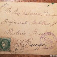 Sellos: CARTA. POSTGUERRA. DE FRANCIA A BURGOS. CENSURA GOBIERNO CIVIL. 1940.. Lote 124239736
