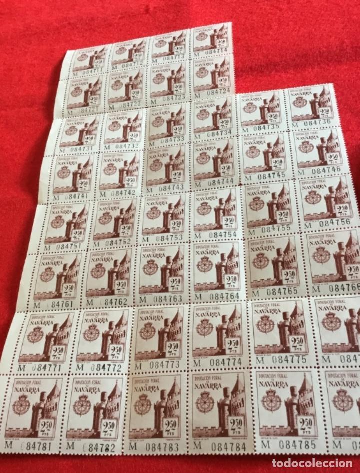 Sellos: Pliego 44 sellos nuevos diputación foral de Navarra 2,50 Pts perfecto estado - Foto 3 - 124300831