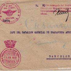 Sellos: CARTA GUERRA CIVIL-SERVICIO DE TREN DEL EJERCITO- VALENCIA- CON SELLO FRANQUICIA. Lote 124568667