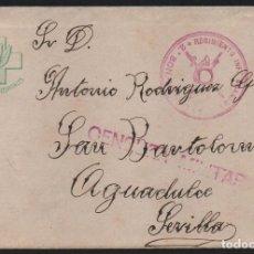 Sellos: CARTA Y SOBRE, FRENTES Y HOSPITALES, ESCRITO SOBRE LA RECUPERACION DE GERONA, 9-2-1939, VER FOTOS. Lote 124600767