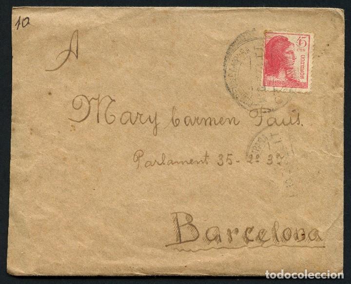 GUERRA CIVIL, CARTA, 34 DIVISIÓN, 218 BRIGADA MIXTA, BANDA DE MÚSICA, 1938 (Sellos - España - Guerra Civil - De 1.936 a 1.939 - Cartas)