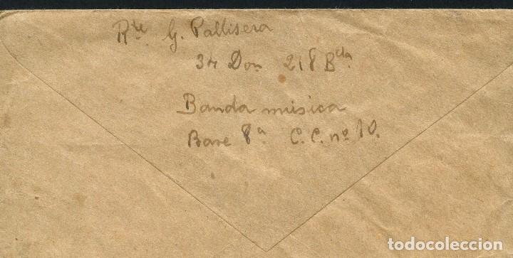 Sellos: GUERRA CIVIL, CARTA, 34 DIVISIÓN, 218 BRIGADA MIXTA, BANDA DE MÚSICA, 1938 - Foto 2 - 124659883